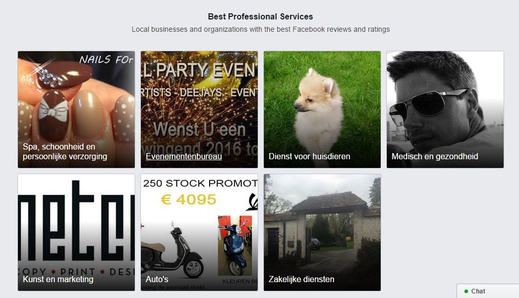Professional services Facebook
