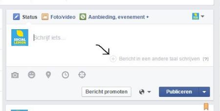 Bericht in andere taal Facebook