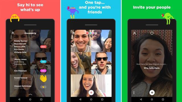 De Houseparty app, nu reeds heel populair bij jongeren, vooral in de VS