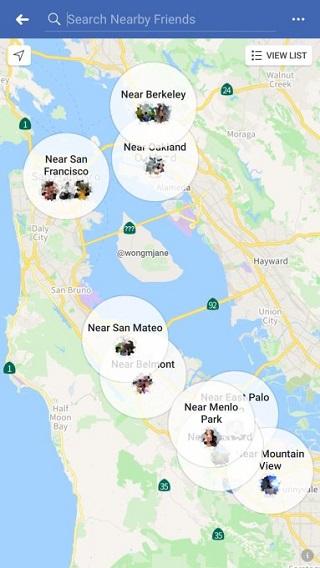 De Stories Map van Facebook lijkt wel heel erg op de Snap Map van Snapchat… (Foto via Social Media Today)