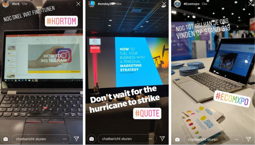 Hashtag stickers zetten een merk, thema of onderwerp extra in de kijker en zorgen voor meer bereik