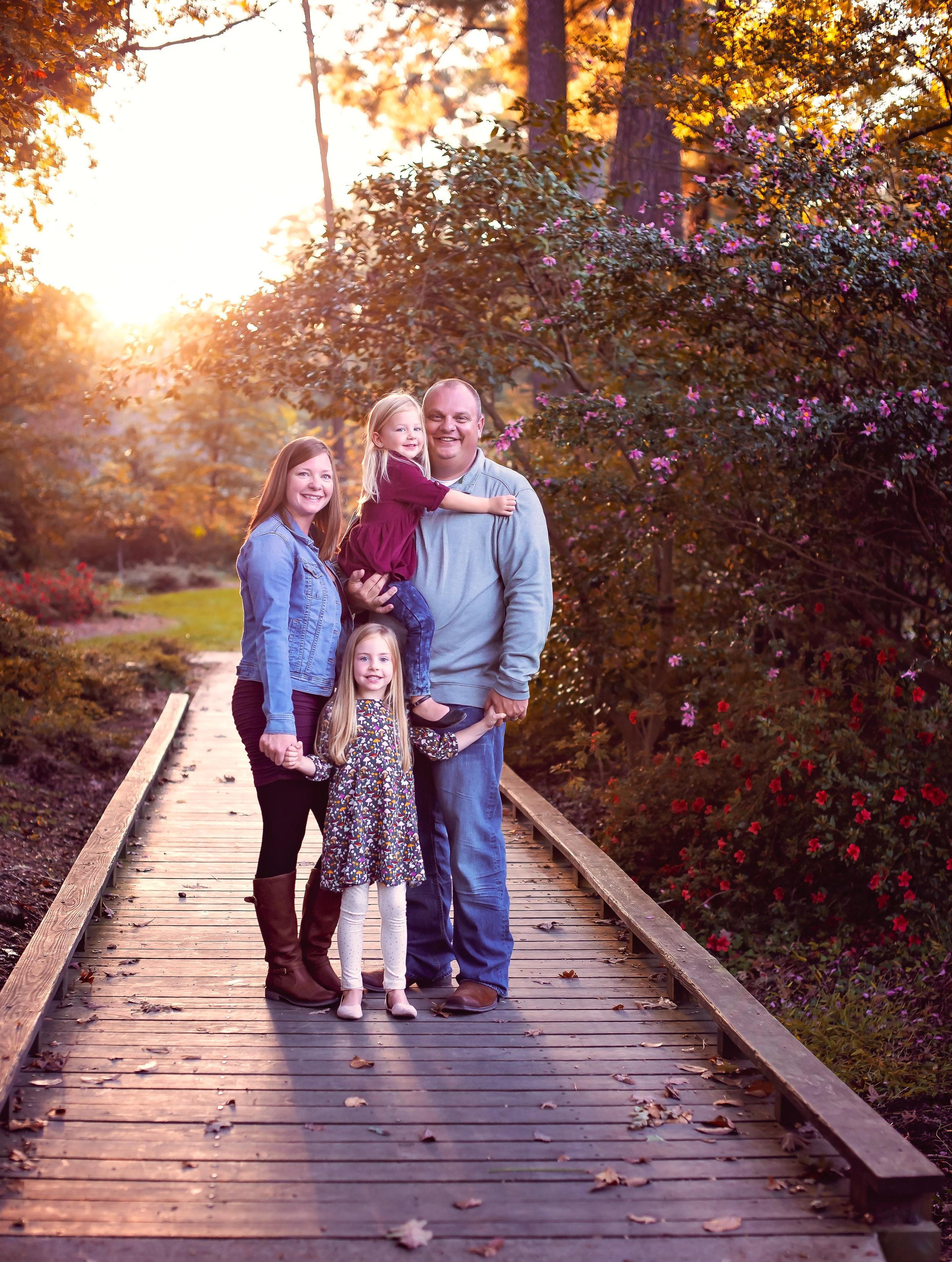 Family Photography in Rock Hill, SC Glencairn Gardens
