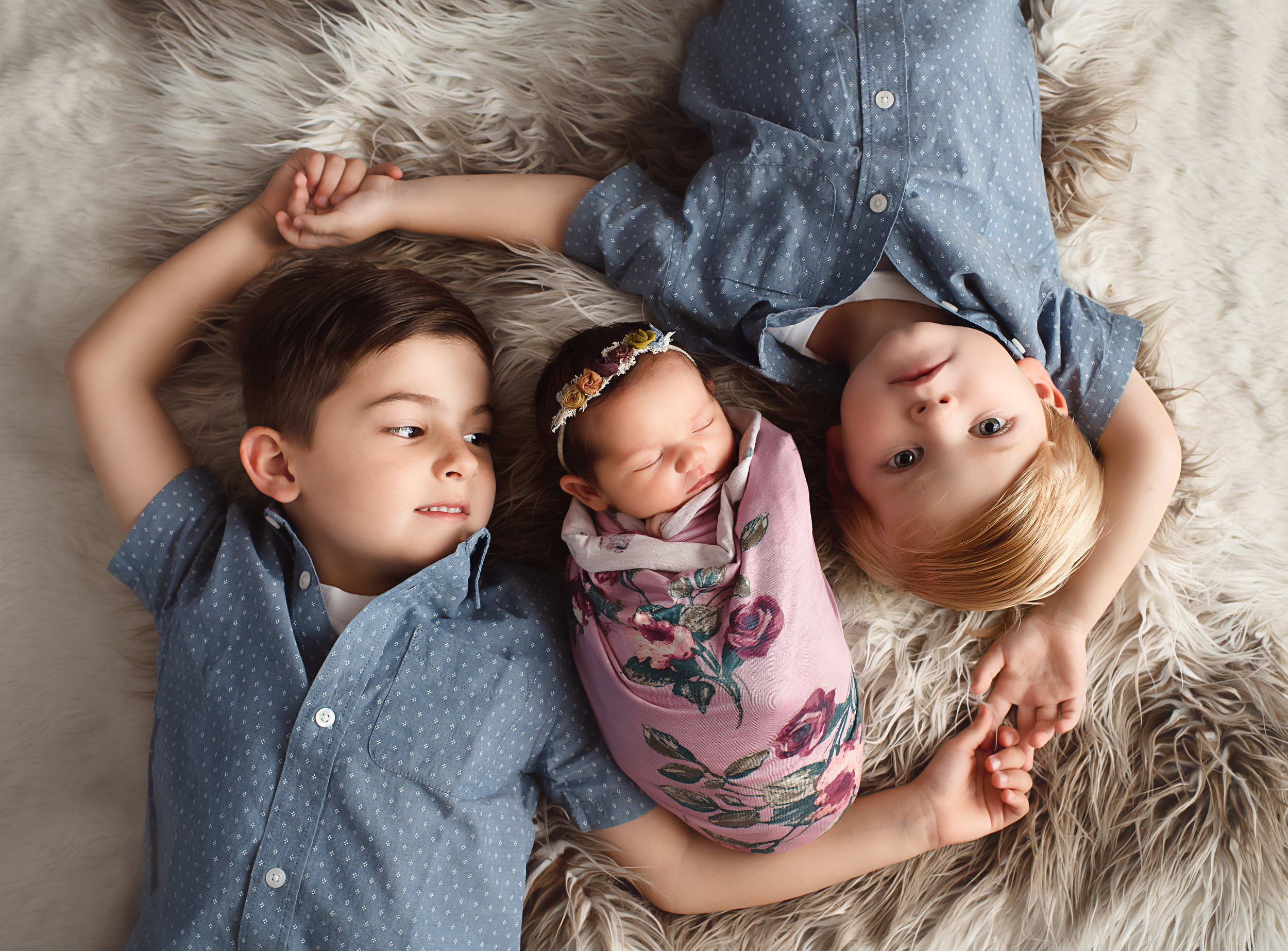 Newborn Sibling Photography, Tega Cay, SC