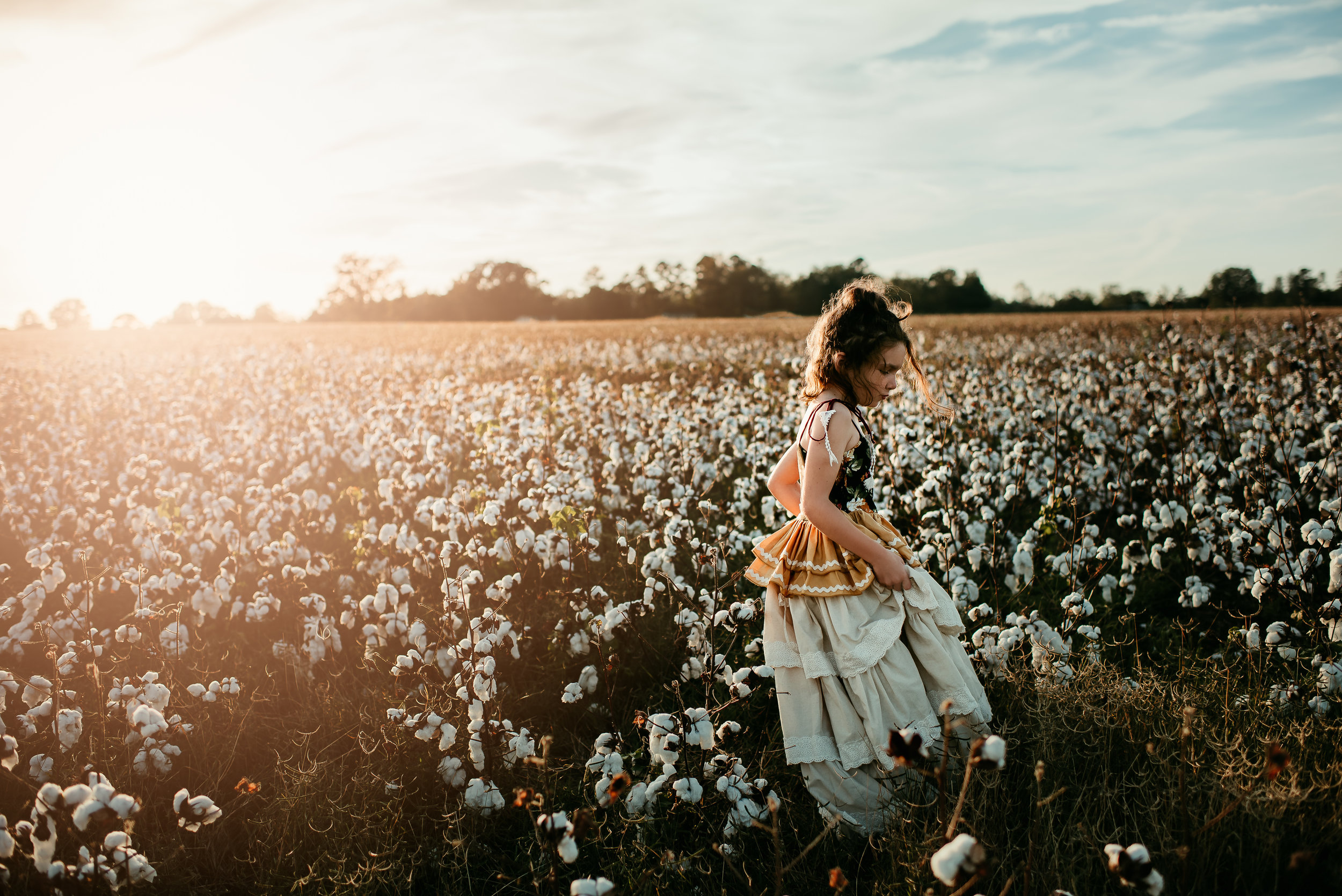 Child Photography, York County, SC Cottonfields