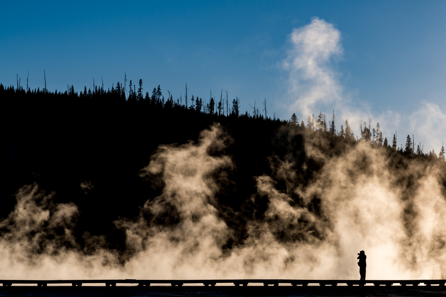 Photographing at Grand Prismatic