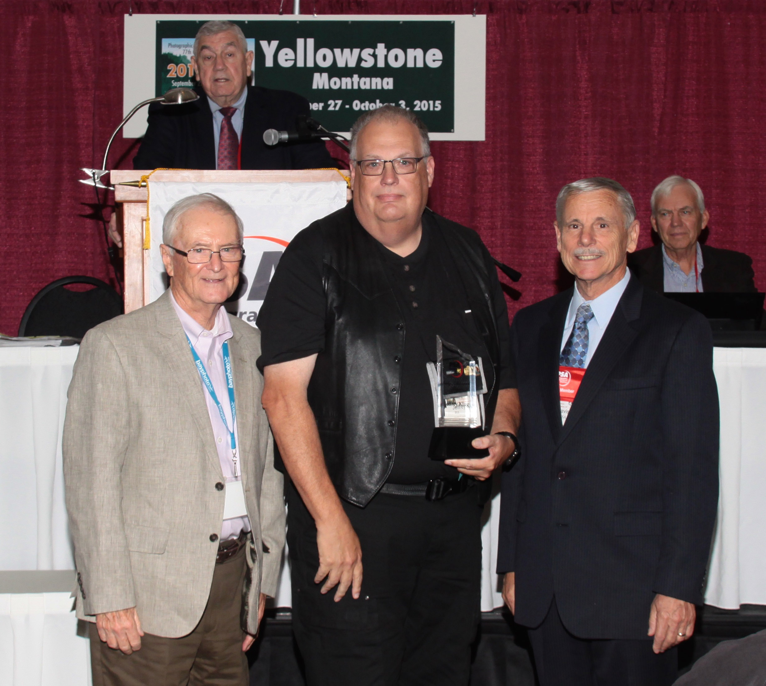 Jeff recieving the Early Achievement Award