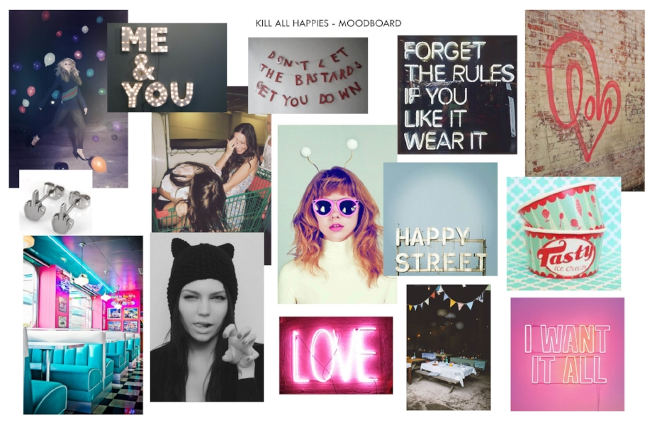 kill all happies pinterest mood board