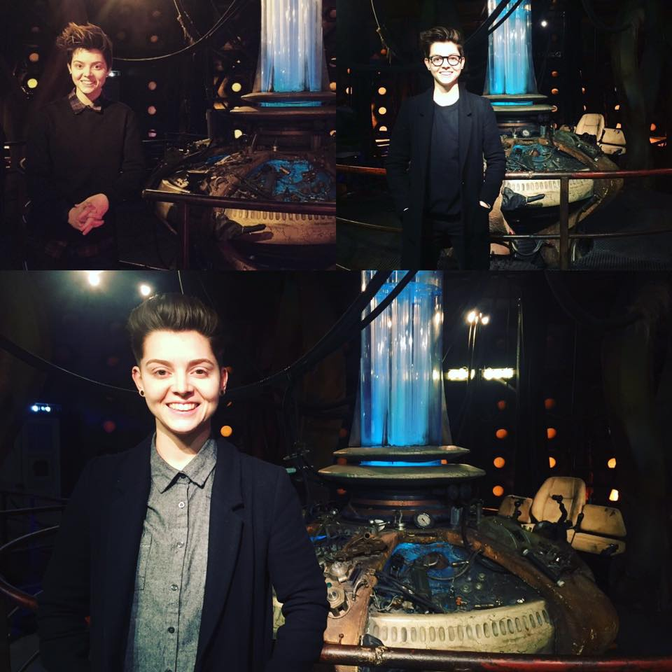 """I don't want to go"" - standing in front of my favourite TARDIS console room in 2014, 2015 and 2017."