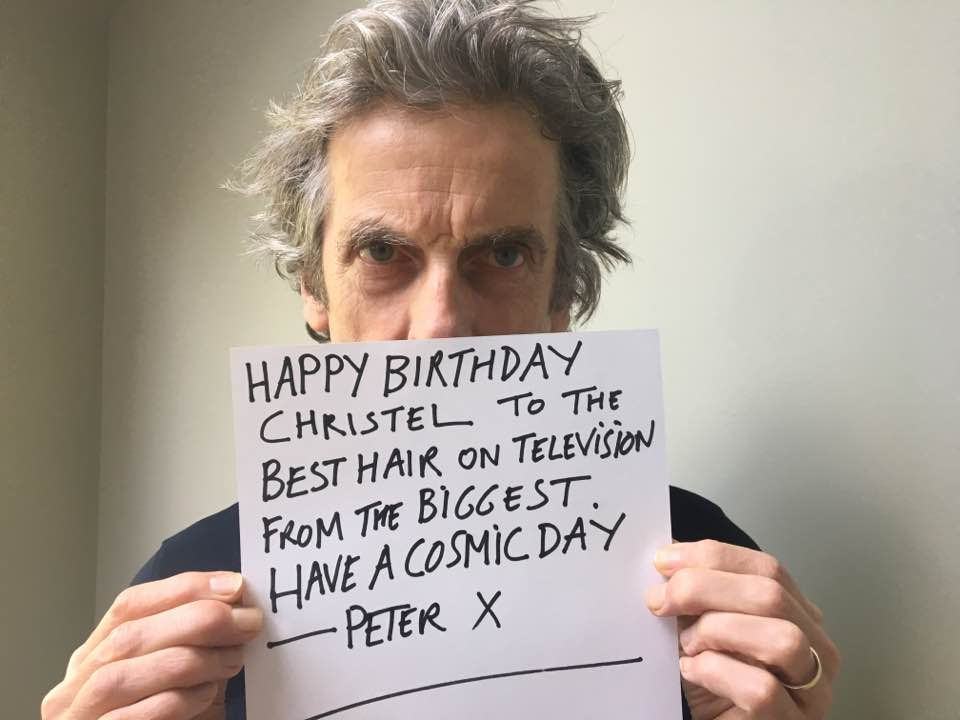 A birthday message from Peter Capaldi!