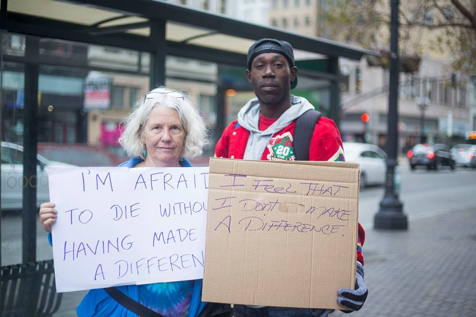 """Photo from """"Rise/Vulnerable Rally"""" shoot in Oakland, CA"""