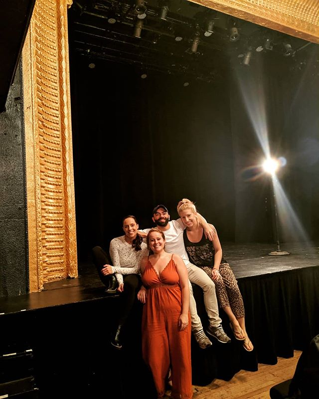 It's been four years since our first production of this play and we just had an amazing run @shenycarts last Thursday and Saturday! It was thrilling seeing our little play on the big stage with real lights and sound!  Thank you so much to SheNYC for creating a warm, supportive environment for women to create theatre in NYC.  #theatre #theatrefestival #theatreinnyc #sexpositive #team