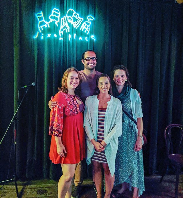 Thank you so much to everyone who came out last night! The audience was packed, the performance was beautiful and we CAN'T WAIT to keep working on the piece!  Pictured here from left to right are: Kristin Heckler (director) Brennan Lowery (Michael) Sarah Raimondi (Clara) Jessica Bedford (playwright)  Stay tuned for our next production and thank you for supporting Recognize Theatre!  #theatre #actor #playwright #femaleplaywright #director #femaledirector #gender #imagination