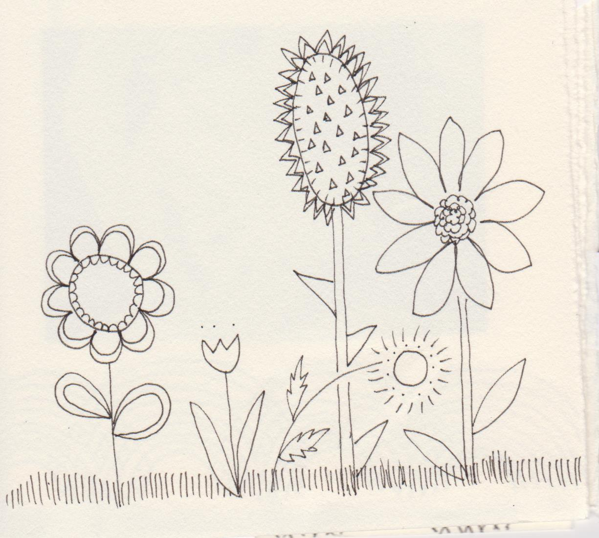 Flower Doodles, 2015.  One of the doodles I created for Birth Affirmations.  Ultimately I decided that these doodles didn't belong in the book because the look of them was simply too different from the graphite drawings.