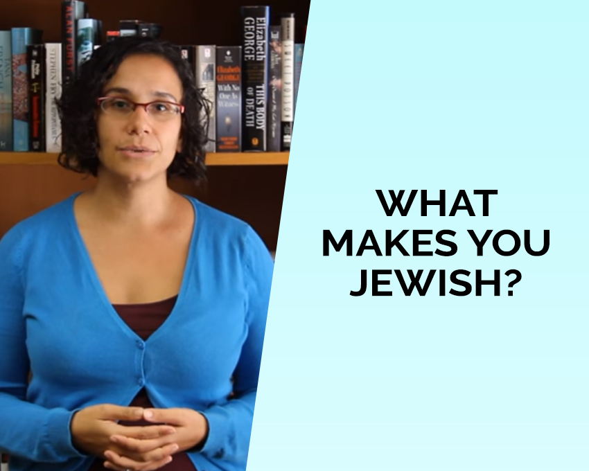 If you don't worship God according to the Jewish religion, what makes you Jewish?