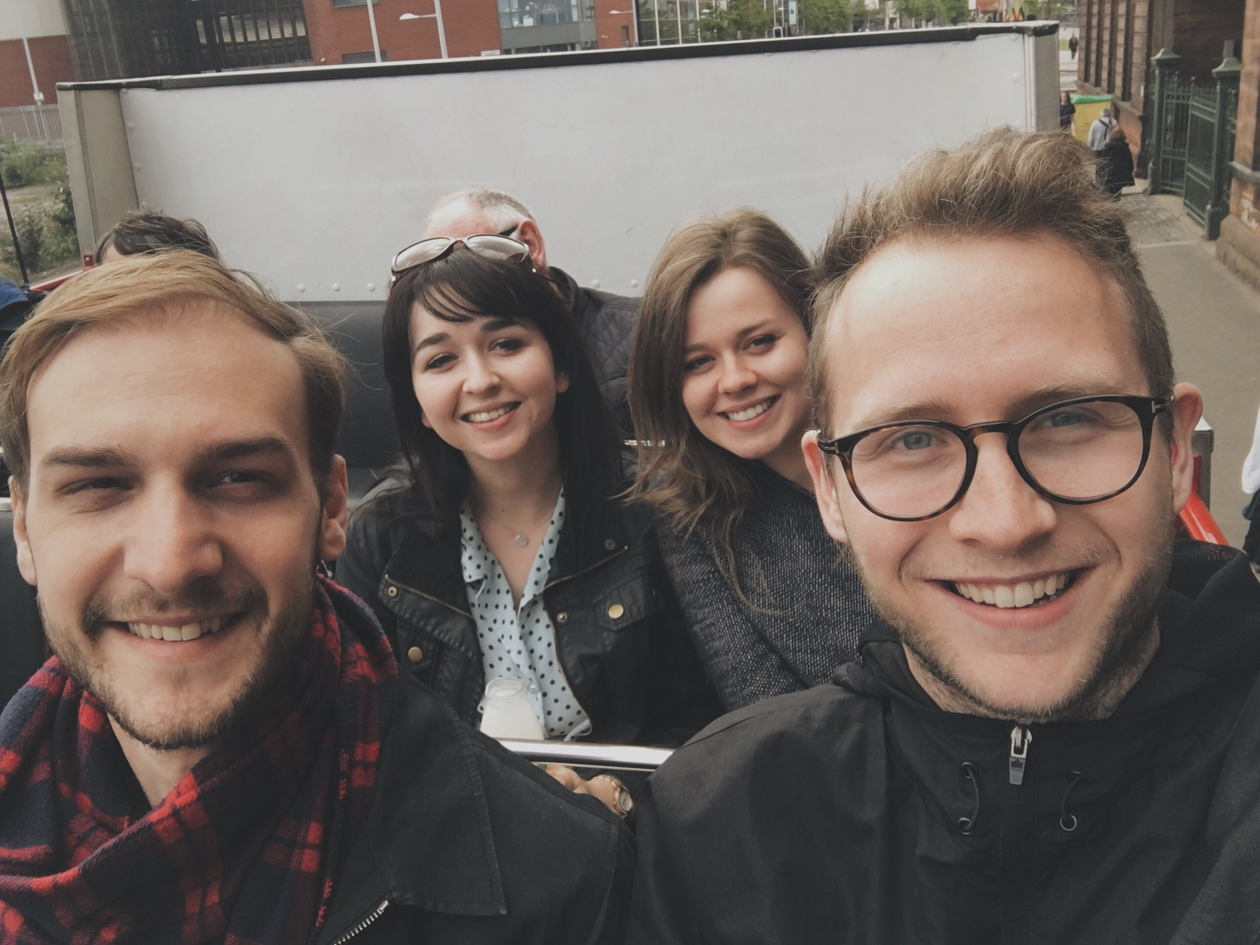 Being tourists in Belfast.