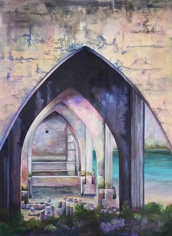 "Siuslaw River Bridge. Florence, Oregon. Acrylic. 40x30"""