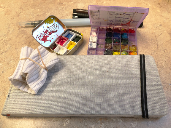 Winter sketching kit…