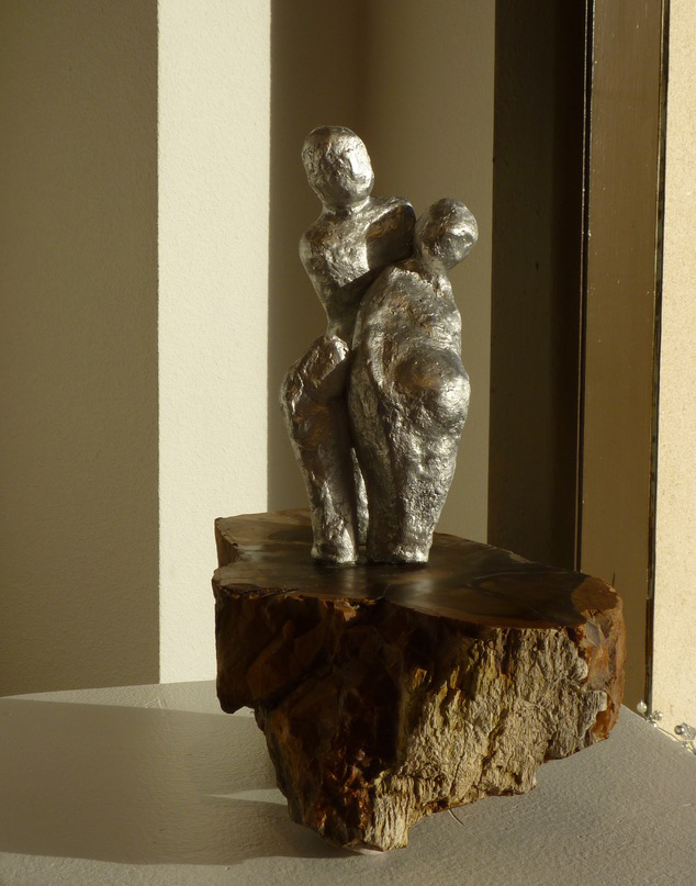 Archetype: Perfect Mother. Metal and petrified wood
