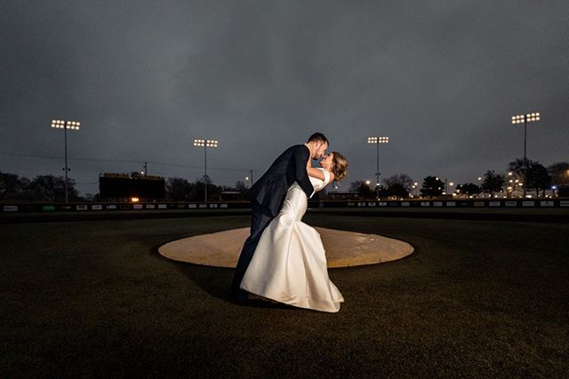 When the groom is a star pitcher and he has access to the stadium!! ⁣ #wichitawedding #engagementshoot #bridetrends #bridetobe #weddinginspiration #weddingideas #weddingfashion #modernwedding⁣ #luxurywedding #makemoments #photographyeveryday #artofvisuals #junebugweddings #dvlop #fstoppers #ict #levikeplar