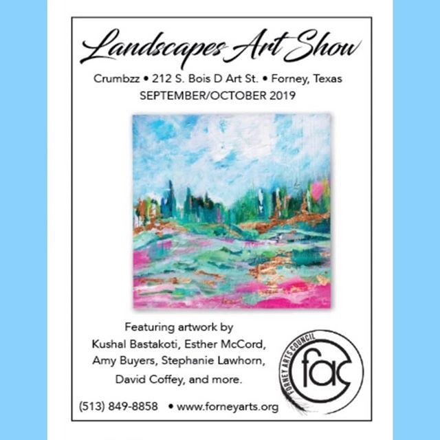 Come see this spectacular show! . . . . . . . . .  #artshow #forneyarts #forneyartscouncil #dallasartist #dallasdesigner #dallasart #dfwartist #texasartist #keepartalive