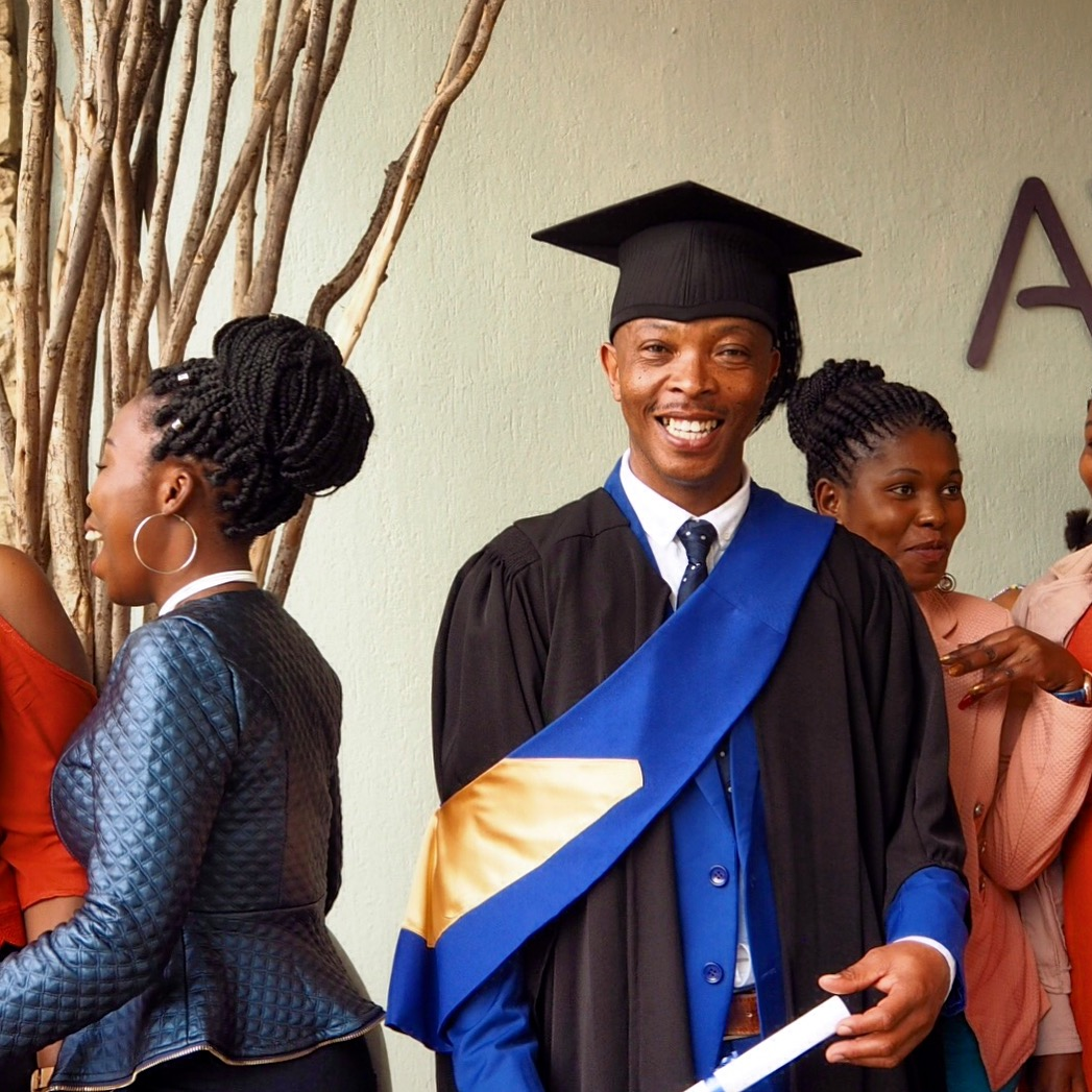 Ntate Khosana at his graduation