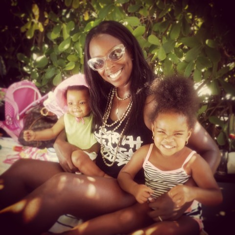 """#Interview with our #Babyhood #MomOfTheWeek Kenya from @krdesigns13 on her Top 5 Essentials for Keeping It Sexy After Baby (make that plural, Babies!): 1) Lots of Lace . . . Toss the cotton granny panties, pull on a sexy pair of lace bikinis with a matching balconette and head out for the day – every day.  2) A great fitting pair of jeans . . . It's tempting to want to live in your leggings when you're working on little to no sleep, but I never met a pair of denim jeans that didn't automatically make me feel like a hottie – even when I was working on losing the baby weight. 3) """"Me Time"""" . . . Find a little time each day for something that makes you happy – a mani/pedi, reading the latest glossy, indulging in a great sheet mask when baby's asleep.  The more you can do for you, the better you will feel. 4) Clean, Healthy Eating . . . Even if you don't have time to work out, eating clean and healthy every day will go a long way to helping you get your sexy back. 5) A really great lipstick . . . because….well, because it's lipstick! #keepinitsexy #bringingsexyback #mommentors #momfriends #fitmom #fitmomsinspire #droppingknowledge #truth"""