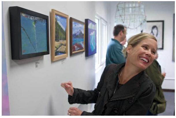 Timi Johnson wins the Best of Show Juneau Juried Art Show