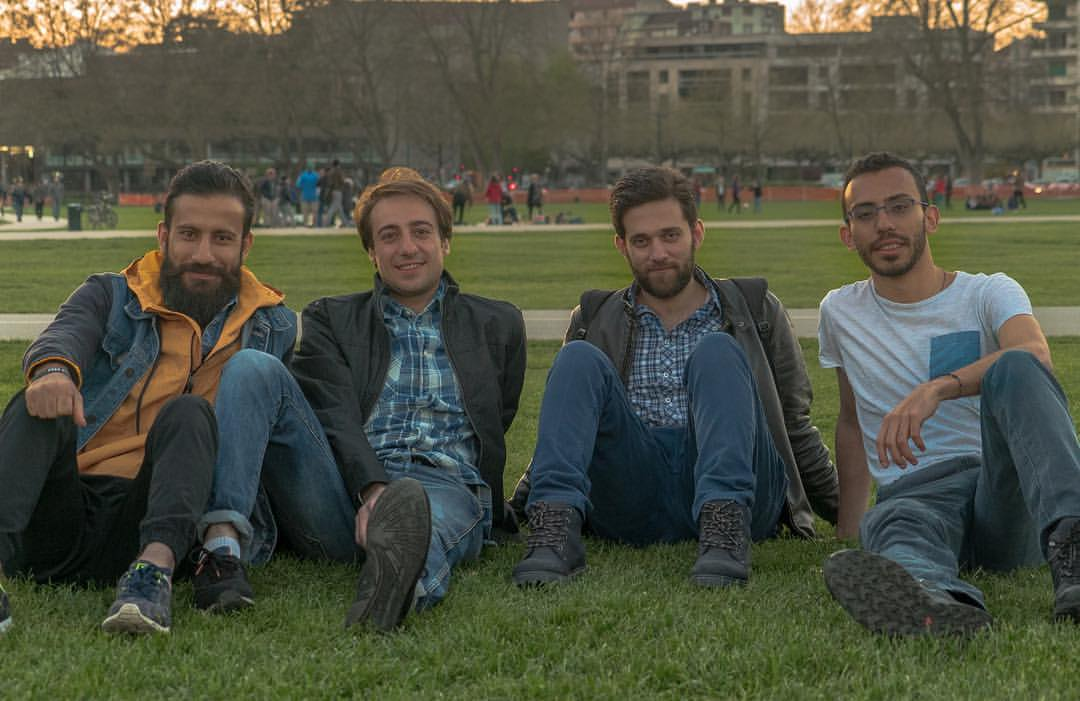 I met Ramman through ActForRef. This is a photo of us on a trip we made to Annecy, France, to shoot some footage for  the documentary.  We came along with our two friends Hussam and Tarek, also refugees from Syria.