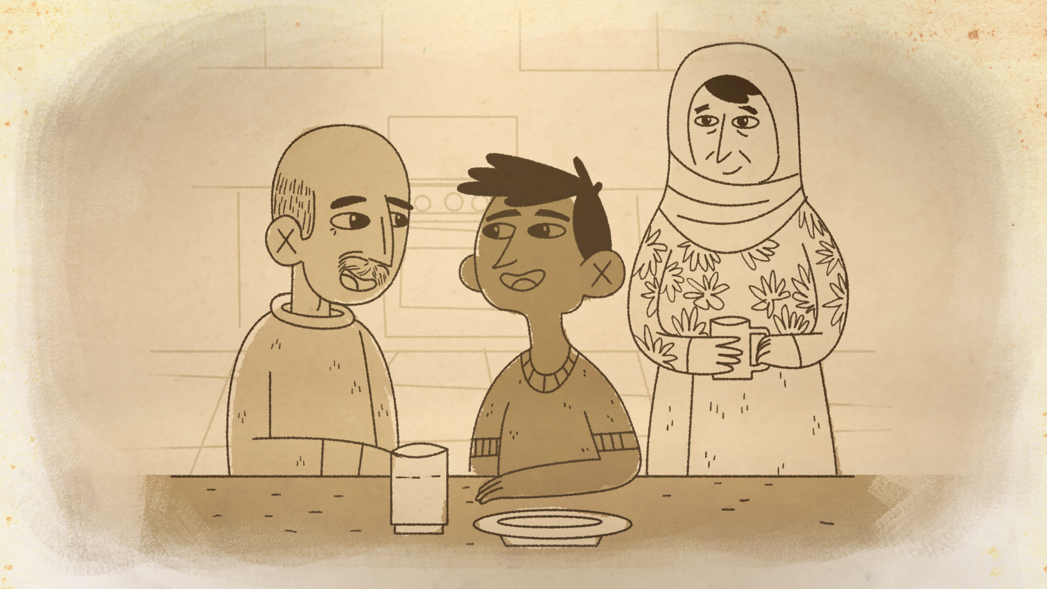 An animated scene from my  documentary film  about Ramman created by Alcides Urrutia, a Venezuelan graphic designer and animator.