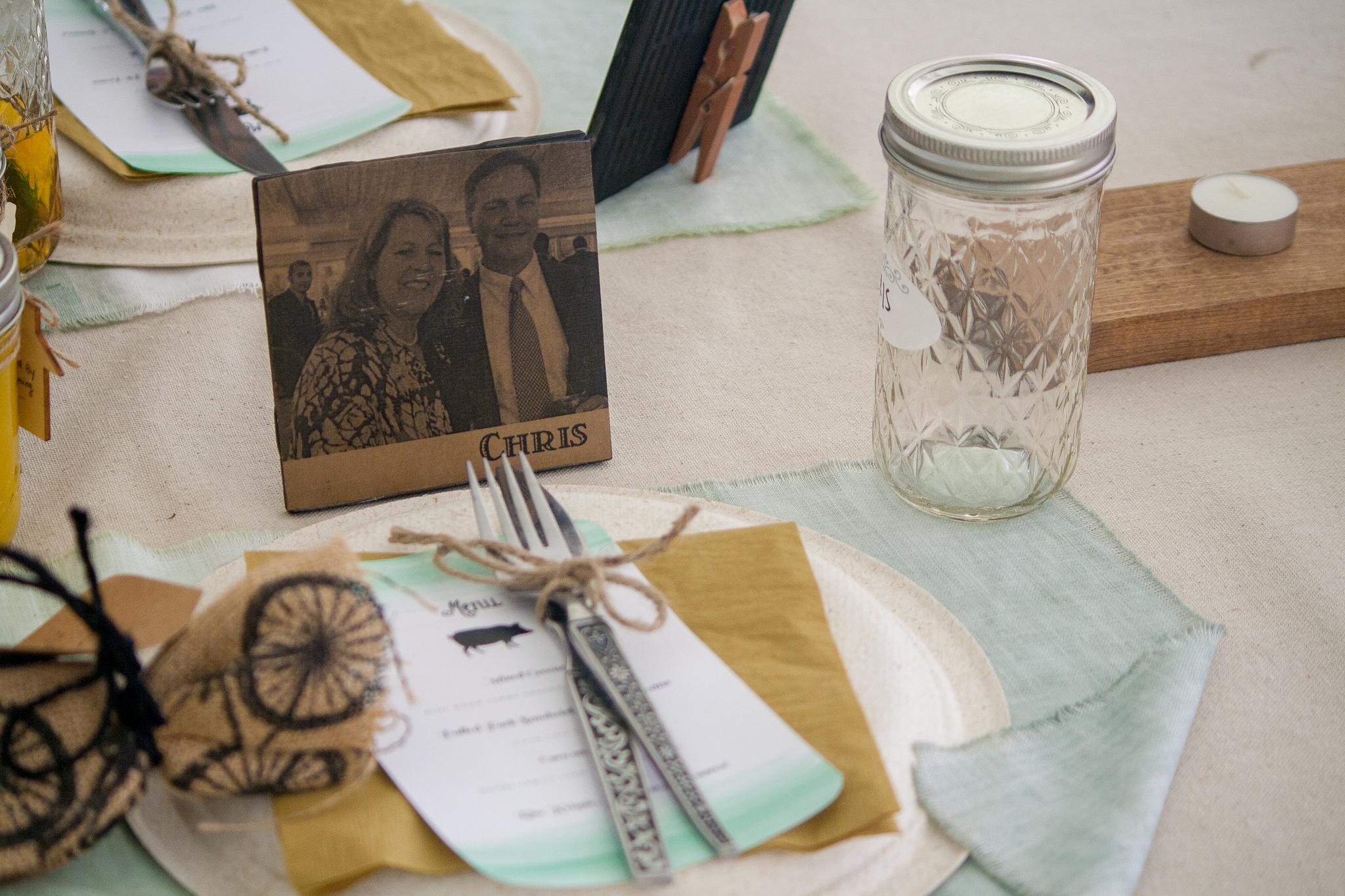 Personalized place settings create an experience your guests will never forget