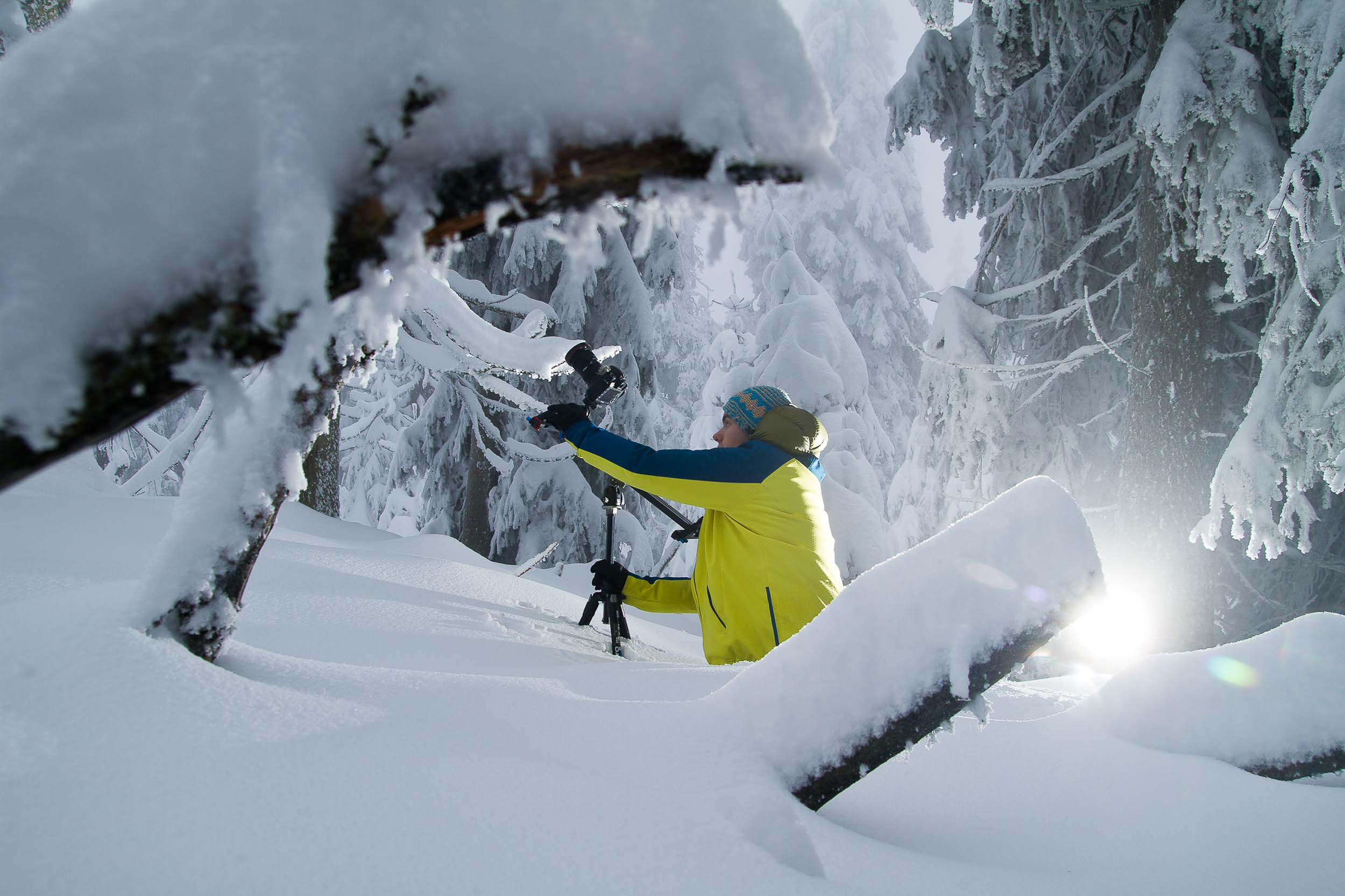 Dreharbeiten im Nationalpark Schwarzwald   Foto: Benjamin Blankenburg |  Download