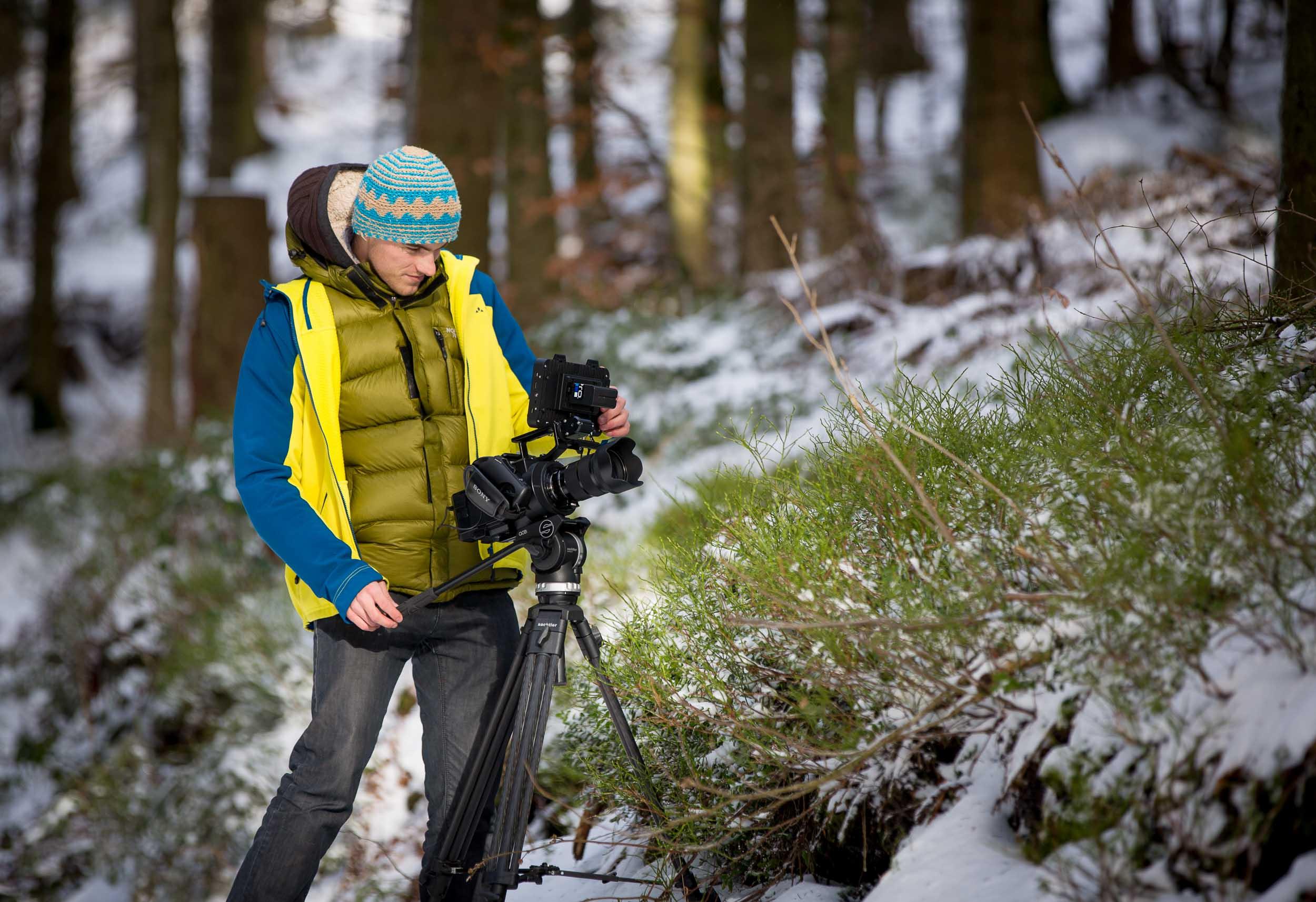 Dreharbeiten im Nationalpark Schwarzwald   Foto: Janis Klinkenberg |  Download
