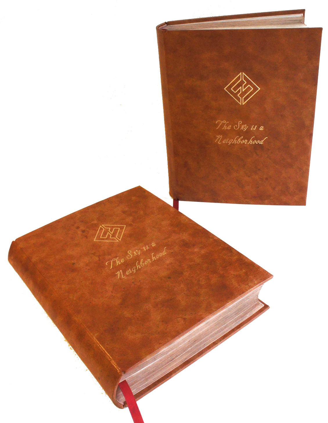 leather binding, gold stamping