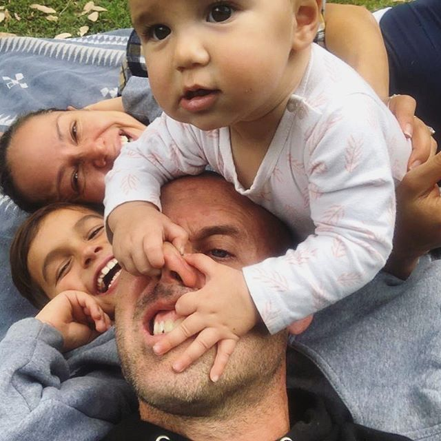 Family Portrait. 😝 . . . . #simmonsreedclappfamilyportrait #family #modernfamily #myfamily #myeverything #nutters #lovethem #familytime #campseabird #coastersretreat #bbls #bodybyleahsimmons