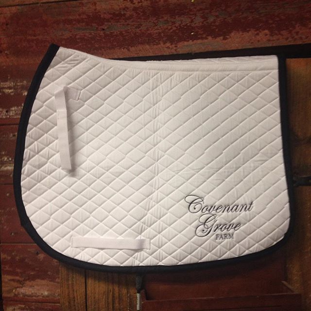 The new Team CG saddle pads just arrived. SA  WEET! #equestrian