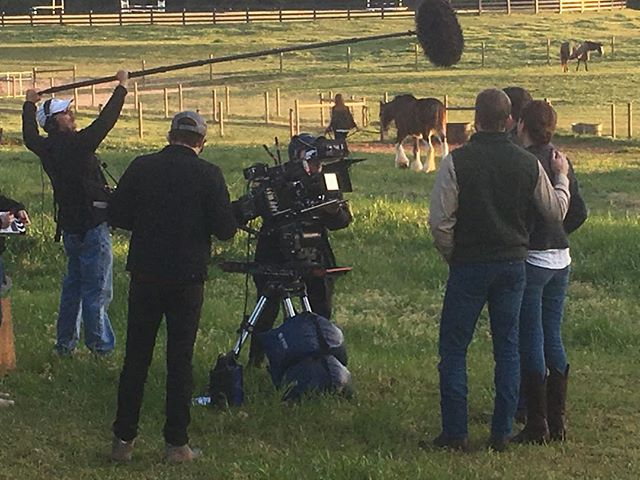 The past two days have been jam packed with #Hollywood types.  Shooting a short film about a girl and her horse. Look for it around Mother's Day.  We're honored that Covenant Grove  could play a part.