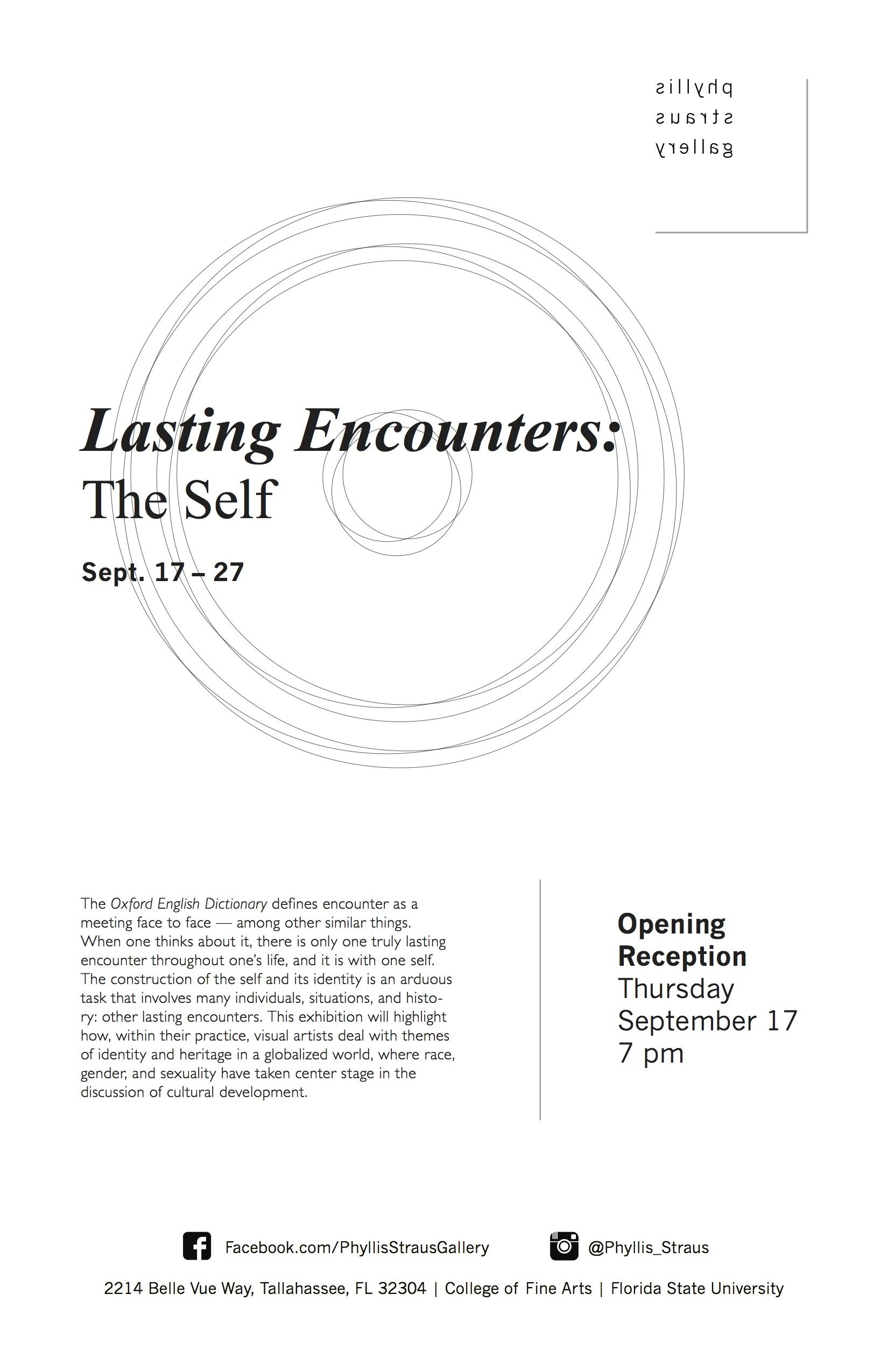 Lasting Encounters Exhibition Poster