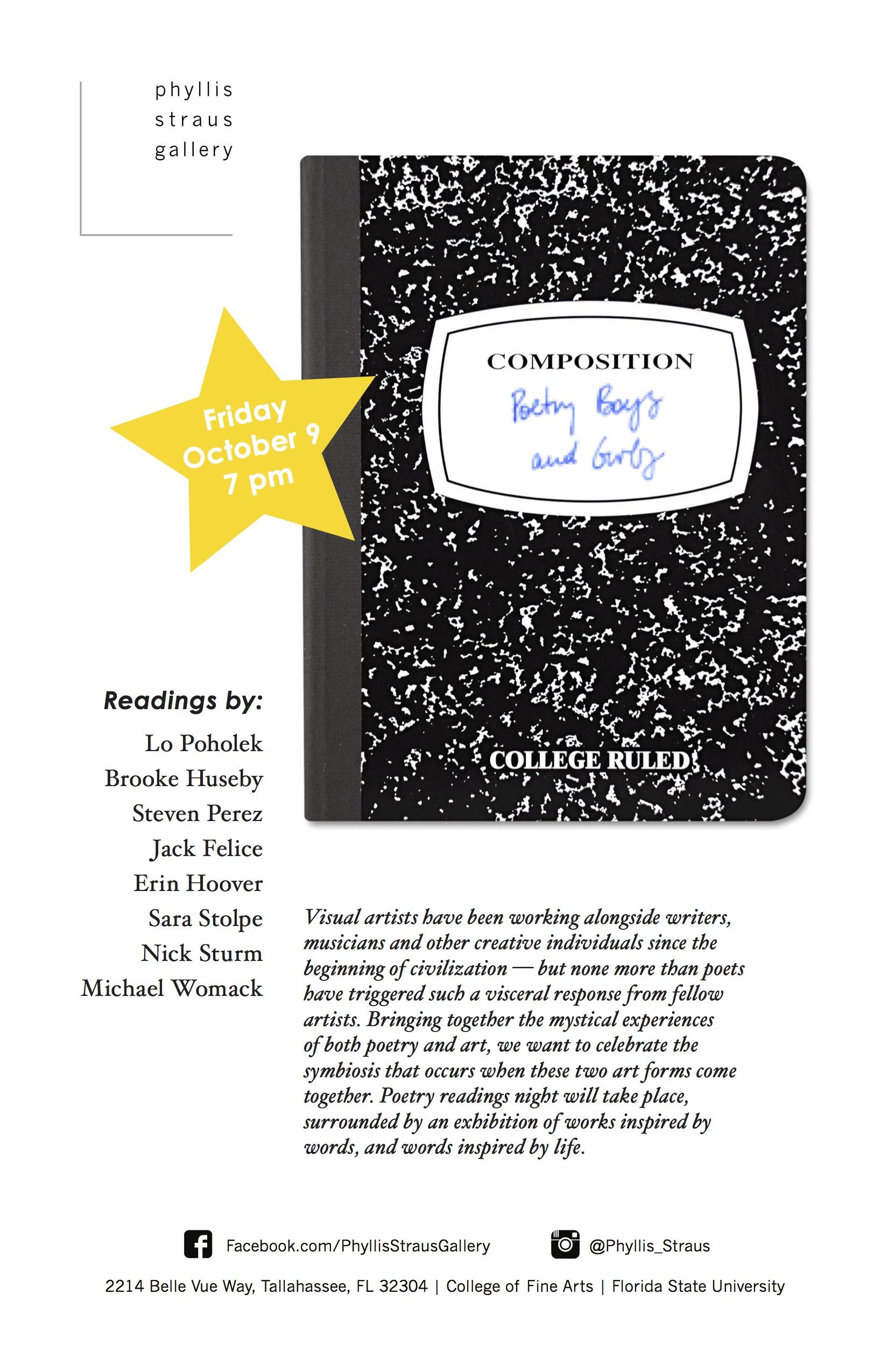 Poetry Boyz and Gurlz, Vol. 1 Event Poster