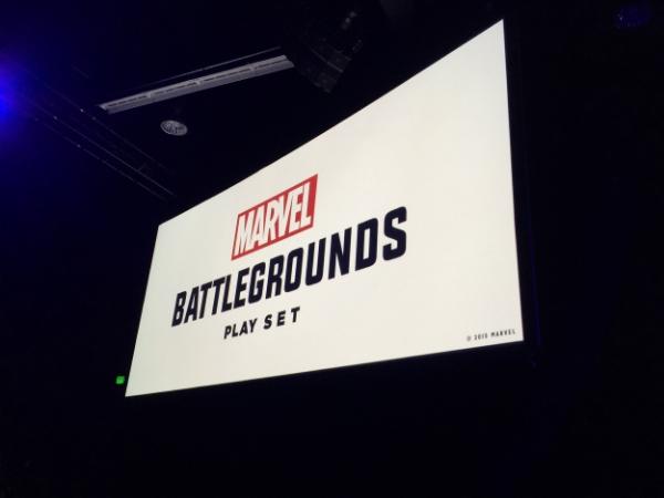 "The new Marvel play set, ""Battlegrounds."""