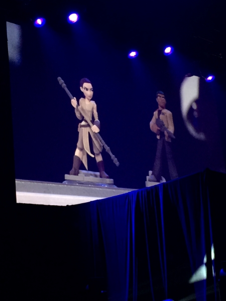Finn and Rey from The Force Awakens play set make their debut.