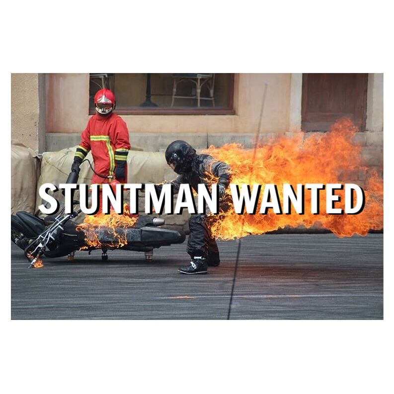 Stunt Man wanted for TV Commercial casting in Jan 2018. v. good money! Send pictures with your name, email, age and contact number to assistantroadcast@gmail.com