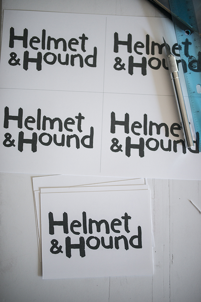 Custom lettering for Helmet & Hound!