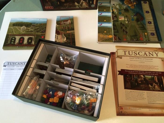 inside the Tuscany box
