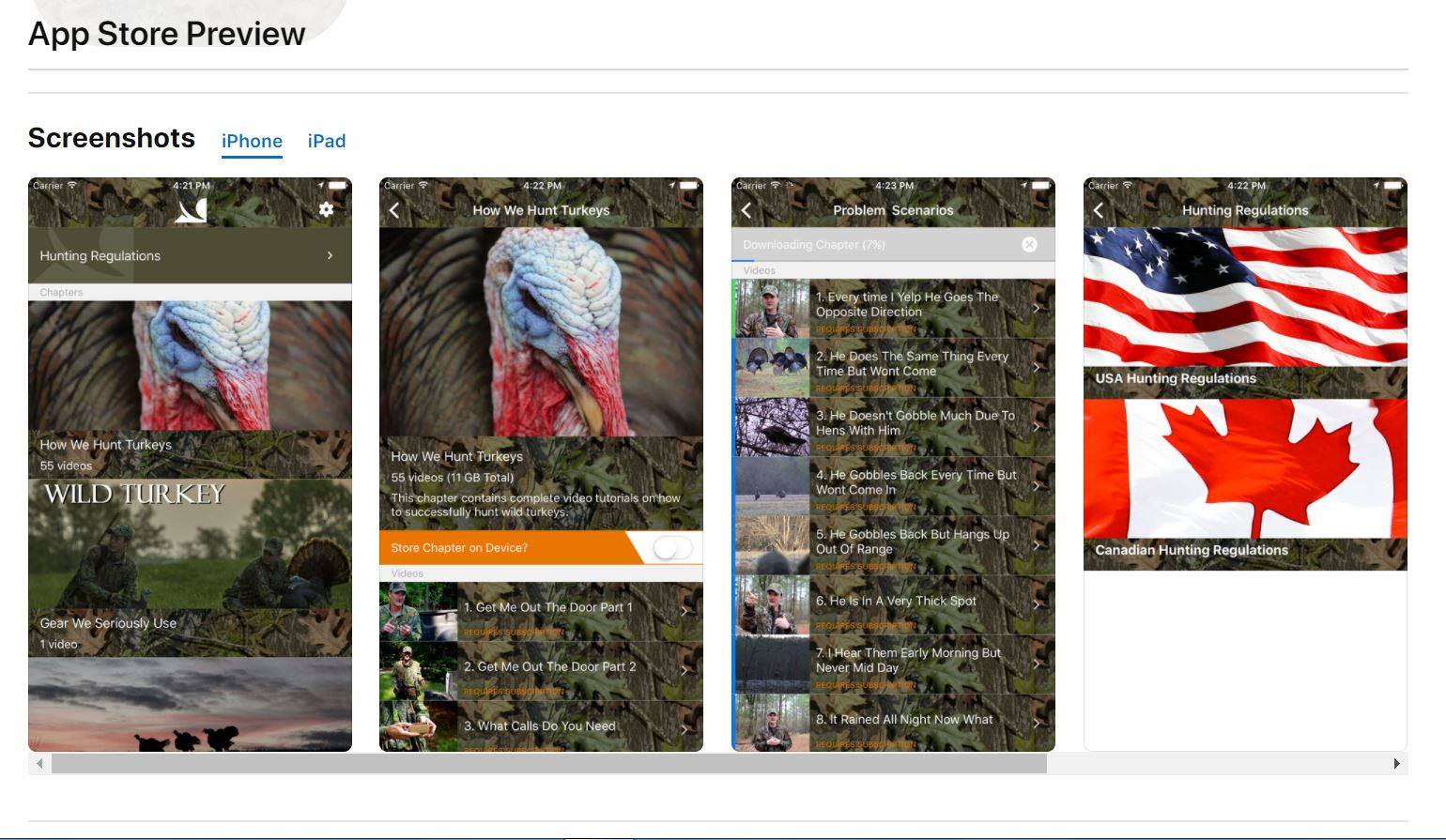 Wild Turkey Hunting on iTunes and Google Play
