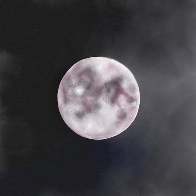 """Apparently, it's a """"strawberry moon"""" tonight and tomorrow!! 💁🏻♀️🍓🌕 #fullmoon"""