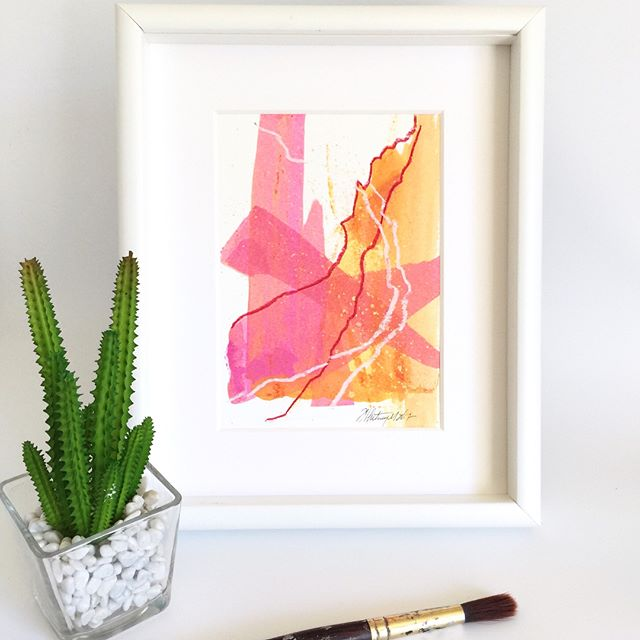 """This is the final piece in the Summer Heat Series. Just 4 little warm reminders of summer fun! I think they would look great as a grouping together on a wall too. A sort of a bright & sunny statement feature for a light filled casual room don't you think? Swipe👉 to see them together! 💙 #whitneydesignstudios . . For more Inspired art Follow 👉 @whitneydesignstudios 👈 & click link in my bio 👆 to sign up for my art letter and be the first to know about upcoming shows, sales and new work❣️ . 🔹""""Summer Heat 4""""🔹5x7""""🔹acrylic ink, graphite & pastel on heavy art paper🔹Available now, DM for purchase $40 each or all 4 for $130 . . . .  #santacruzartist #santacruzart #bayareaartist #dsart #colorfulart #sfbayarea #interiordesigners #designinspiration #designideas #staging #interiordecoration #interiorandhome #homedecore #homegoals #interiordesignideas #homedecorating #homestaging #bedeeplyrooted #abmathome #lifestylebloggers #livebeautifully #prettylittlethings #sharemystyle #colorcolourlovers #contemporaryartist #artblog #artdealer #abstractartist #originalartwork"""