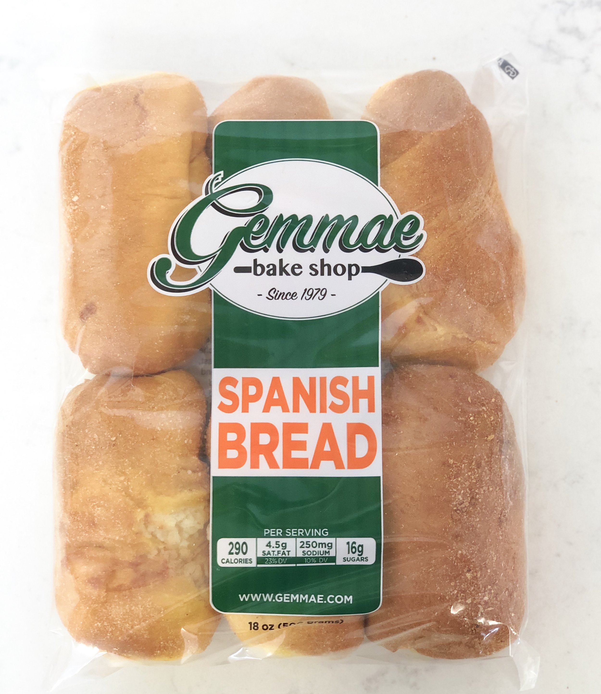 SPANISH BREAD   Often imitated, never duplicated - our Spanish Bread is filled with creamy, sweet cheese filling, topped with a sprinkle of sugar. Each bag contains 6 bread rolls. Best when toasted.