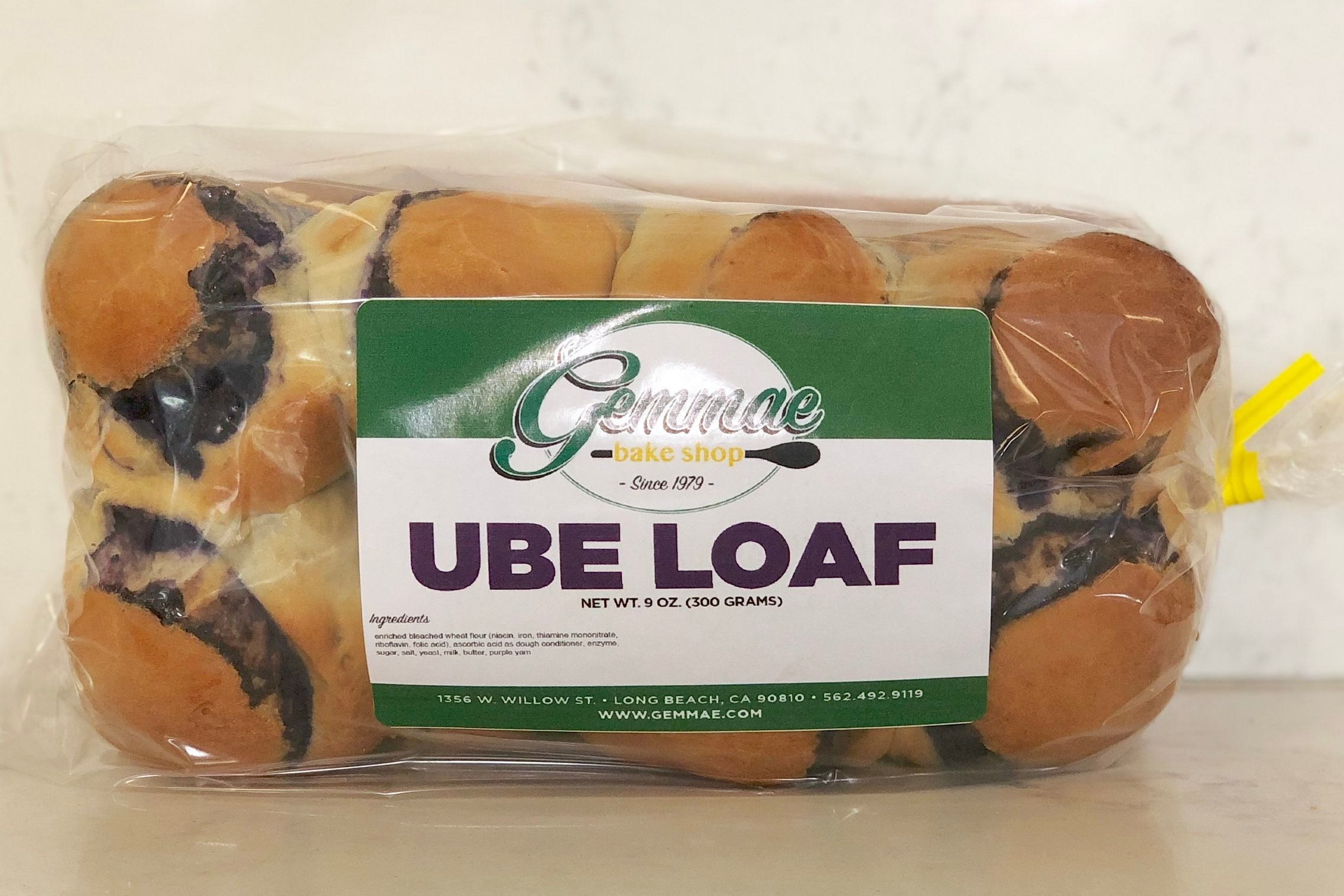 UBE LOAF   Our signature Ube Halaya braided between buttery bread dough.