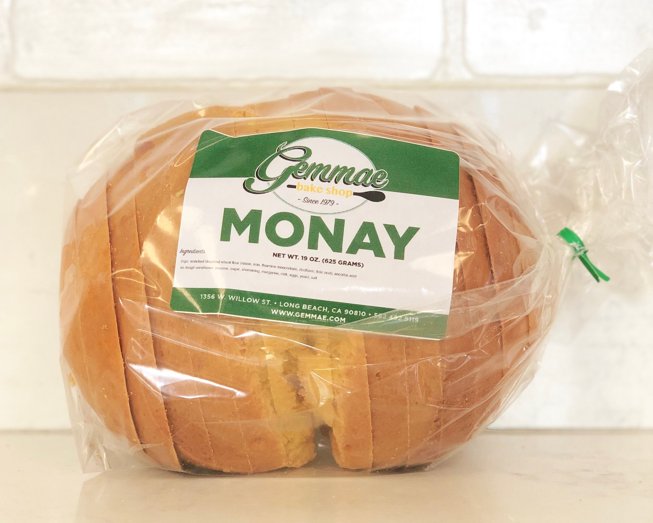 MONAY   Dense and buttery bread loaf.