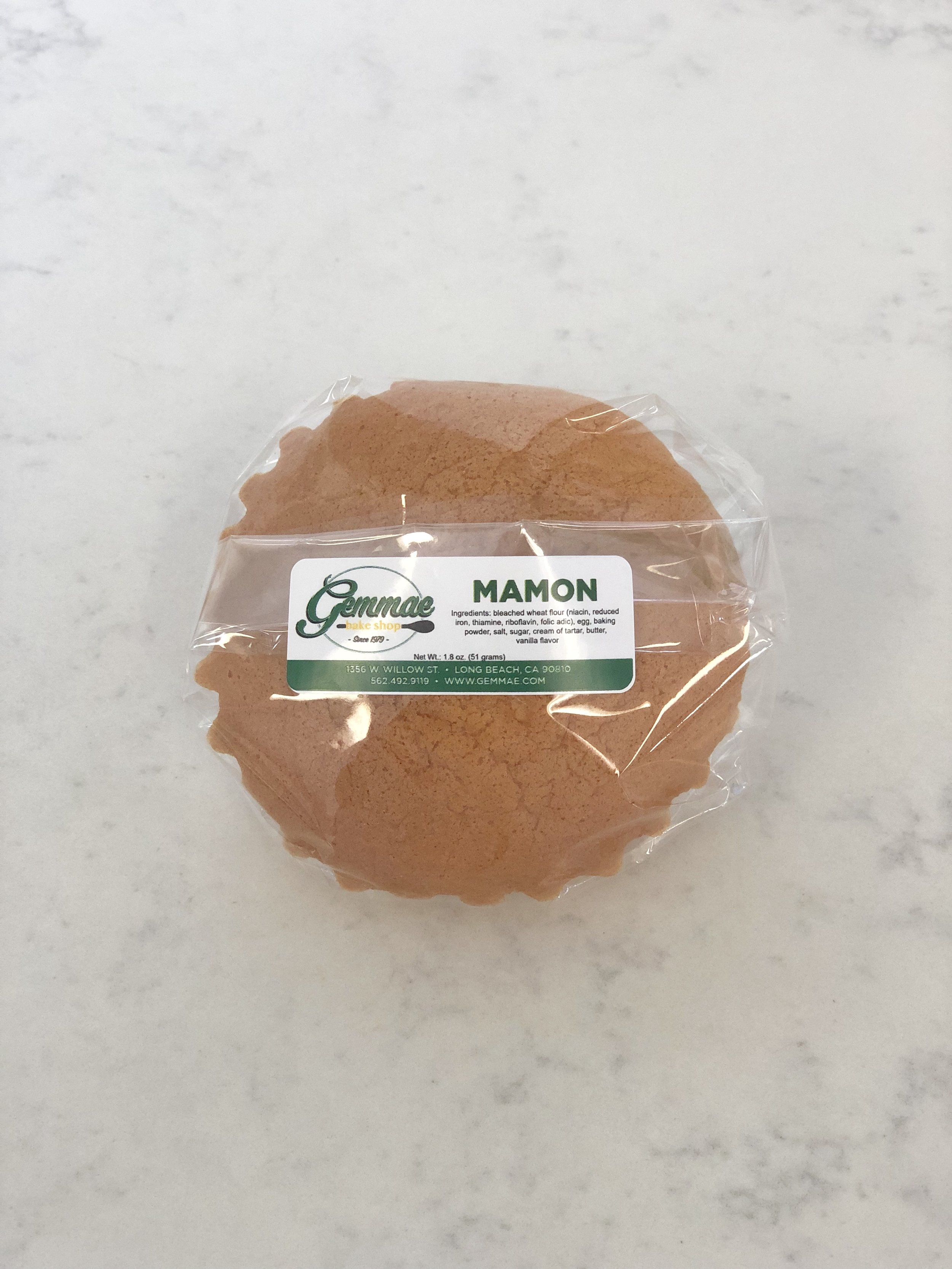 MAMON   Our soft and fluffy, traditional Filipino sponge cake snack.